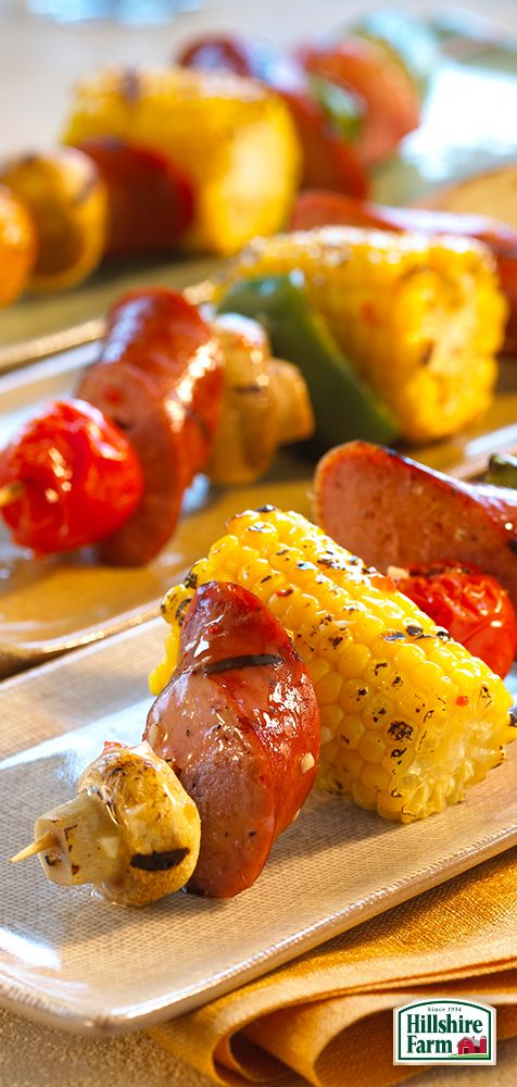 Looking for a tasty way to change up your standard BBQ fare? Try these delicious Zesty Italian Smoked Sausage Kabobs featuring Hillshire Farm® Smoked Sausage! Find the recipe and more delectable ideas here.