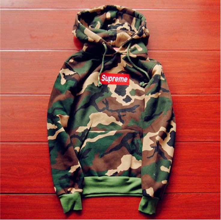 camouflage supreme Men's hoodie embroidered cotton sweater thin section hoodies in Clothing, Shoes & Accessories, Men's Clothing, Sweats & Hoodies | eBay