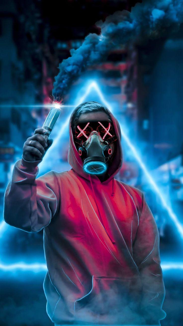 Mask Guy,smoke,mobile wallpaper | Joker iphone wallpaper ...