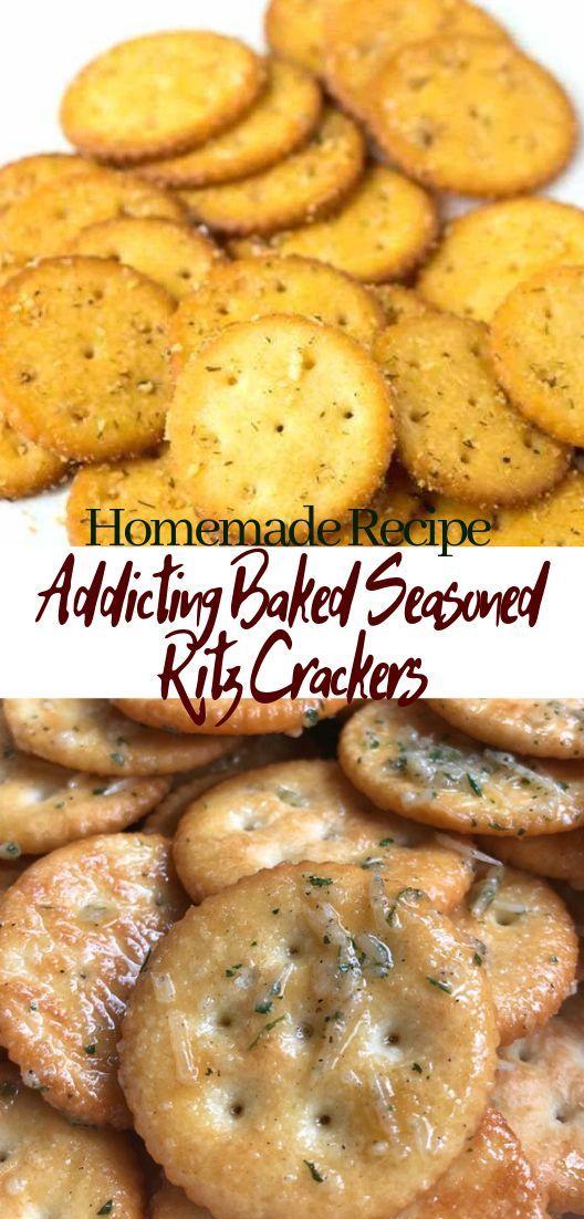 Addicting Baked Seasoned Ritz Crackers #desserts #cakerecipe #chocolate #fingerfood #easy