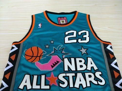 80ac70a37 ... Michael Jordan All Stars 96 23 Throwback Swingman Basketball Jersey  Shirt NBA ...
