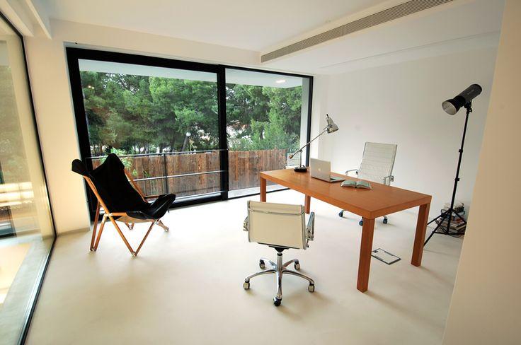 Microcement kantoor #microcement #woonbeton #betonlook #concretelook #kantoor