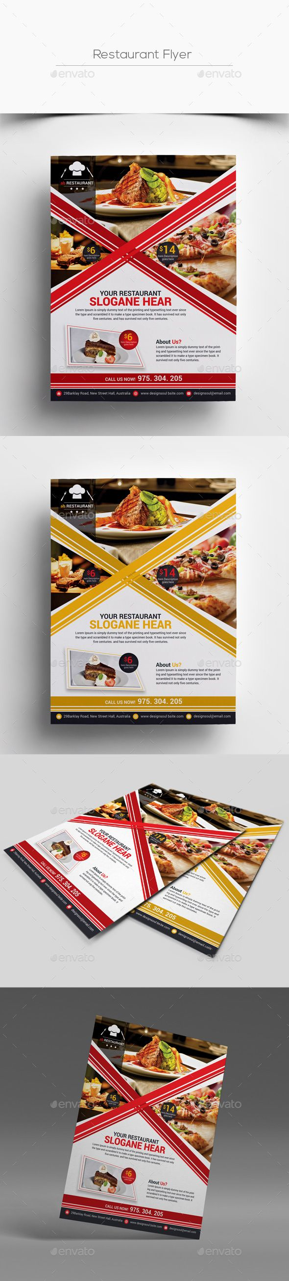 Restaurant Flyer — Photoshop PSD #menu ideas #coffee flyer • Available here → https://graphicriver.net/item/restaurant-flyer/17664358?ref=pxcr