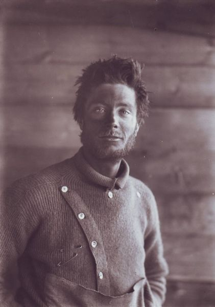 Herbert Ponting -  Portrait of B. Day on Return from the Barrier, 1911