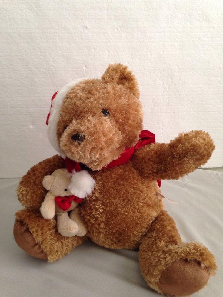 "DAN DEE Talking Teddy Bear Reads The Night Before Christmas 12"" High  SEE VIDEO #DanDee"