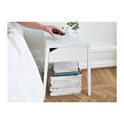 SELJE Bedside table w wireless charging, white - 46x37 cm - IKEA