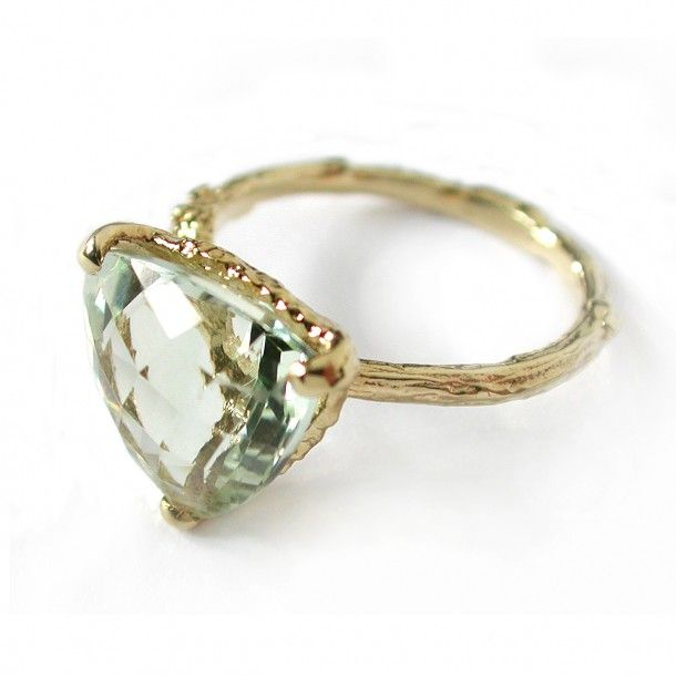 Beautiful green Amethyst forest jewel ring by Alex Monroe - beautiful and delicate, another favourite!