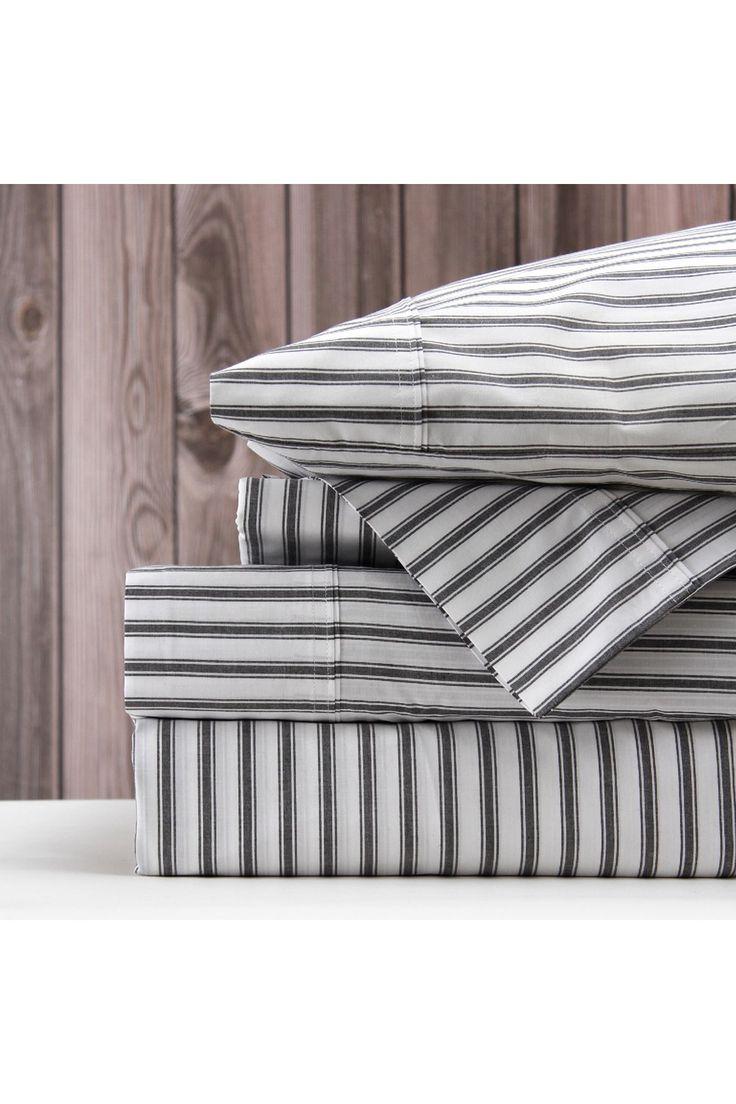 Organic Ticking Sheet Set - Wallace Cotton