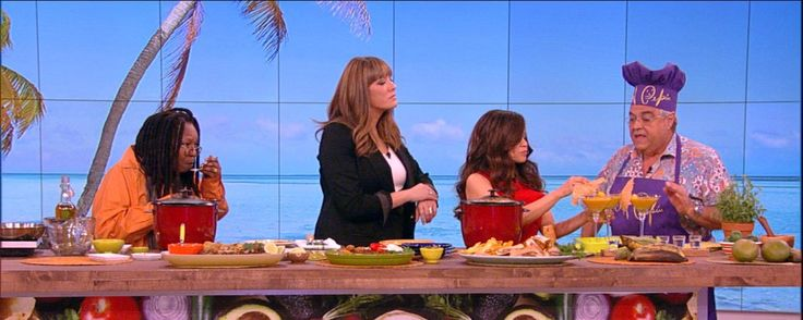 """Chef Pepin visted """"The View"""" on Monday March 30th 2015. He showed the co-hosts how to make Arroz Con Pollo (chicken and rice). Check out the full recipe below.       Ingredients:  2 ½ lbs. Chicken breast (skinless and boneless) cut in cubesLime or sour orangeGarlic powder4 tablespoons olive oil3 cups parboil rice7 cups chicken broth½ green pepper1 medium onion (peal and whole)1 can (10 oz.) Rotel tomatoes (Mild)2 envelopes """"Complete Seasoning"""" (with garlic, coriander and annatto)…"""