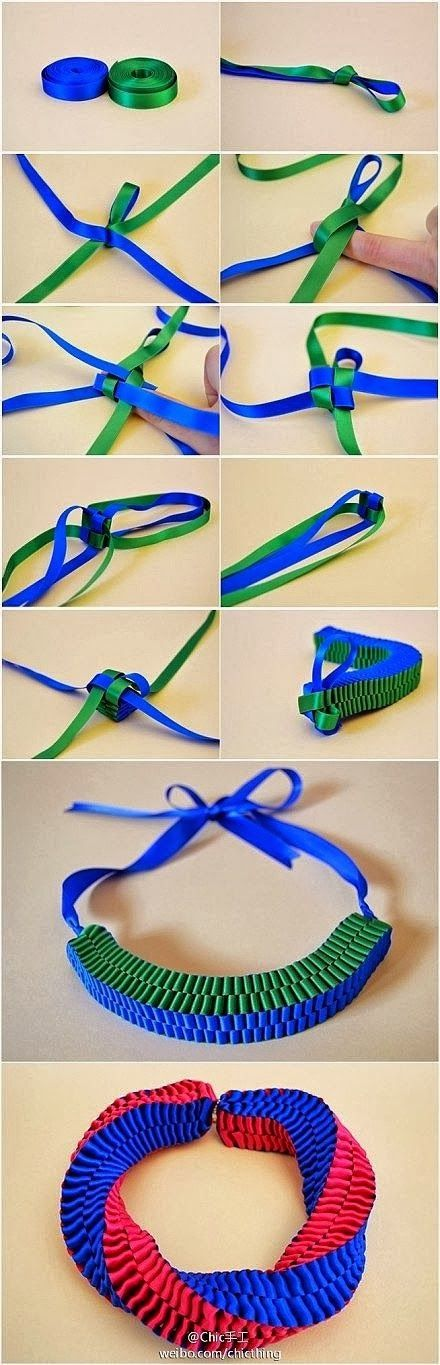 Easy DIY Crafts: How To Make Square Ribbon Style Bracelet