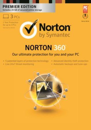 Keep your computer, your identity and your stuff safe with powerful, easy-to-use threat protection. Seamlessly combines our top-rated protection technology and automated 25 GB of backup into one easy-to-use solution for PCs. Norton protection technology is proven to deliver effective protection from online threats. Four different layers of smart protection proactively detect and eliminate threats before they reach your computer.           Price: $46.99