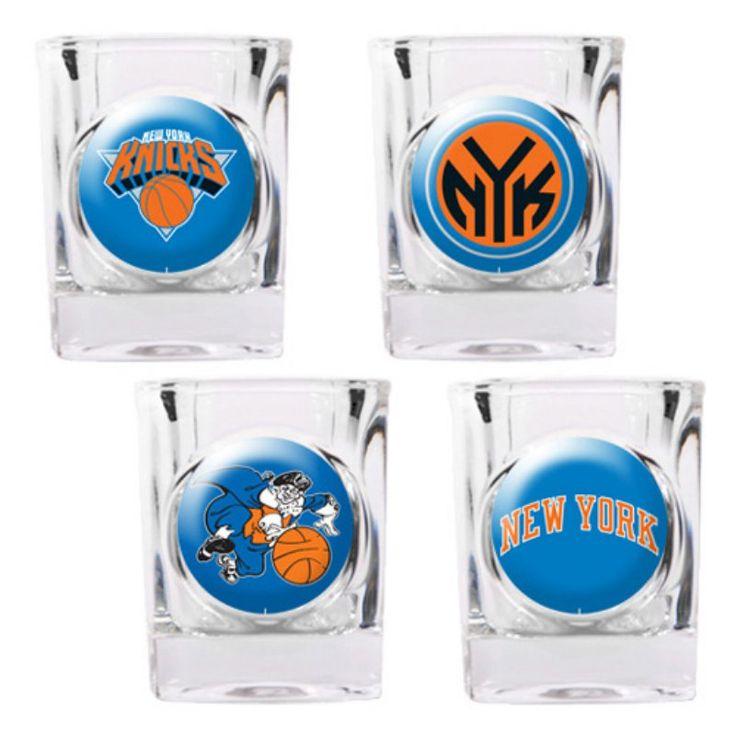 Great American NBA Logo Square Shot Glass Set GSSC4PK22