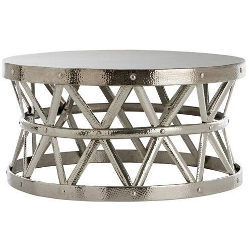 17 Best Images About Lounge On Pinterest Drums Grey Leather And - Silver Drum Coffee Table CoffeTable