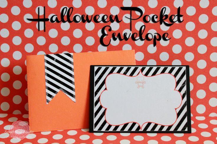 Halloween Pocket Envelope from Sweet Rose Studio  #LifestyleCrafts #Halloween: Sweet Rose, Rose Studios, Rose Shops