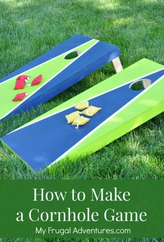 How to Make a Cornhole Game-- so fun for parties or summer BBQs!