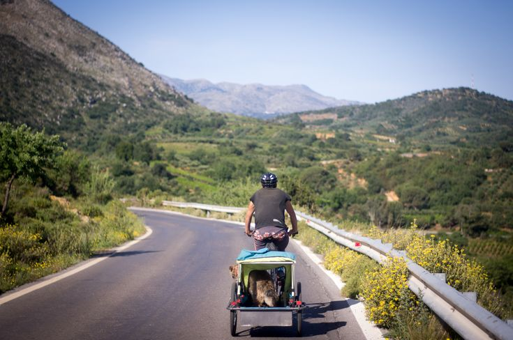 Cycling on Crete, greece