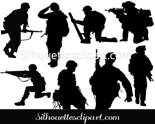 Soldier Vector Graphics Download Soldier Silhouette ...