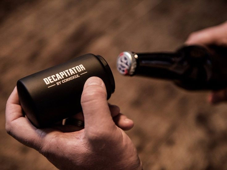Magnetic Bottle Opener keeps removed cap in place for quick & easy disposal
