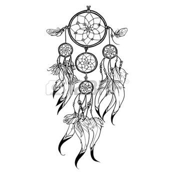 17 best images about dreamcatcher on pinterest vector for Dream catcher tattoo template