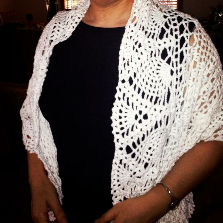 Heirloom Shawl.  Bamboo cotton is soft and cool.