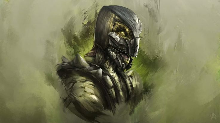 """""""Listen and Join us!"""" Mortal Kombat X Reptile Art by H1fey 1920x1080"""