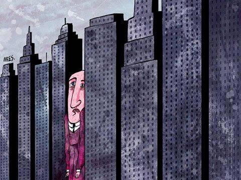Vida en la ciudad, todos apretados y contaminados