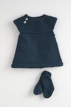 Vestido de crochet para bebés
