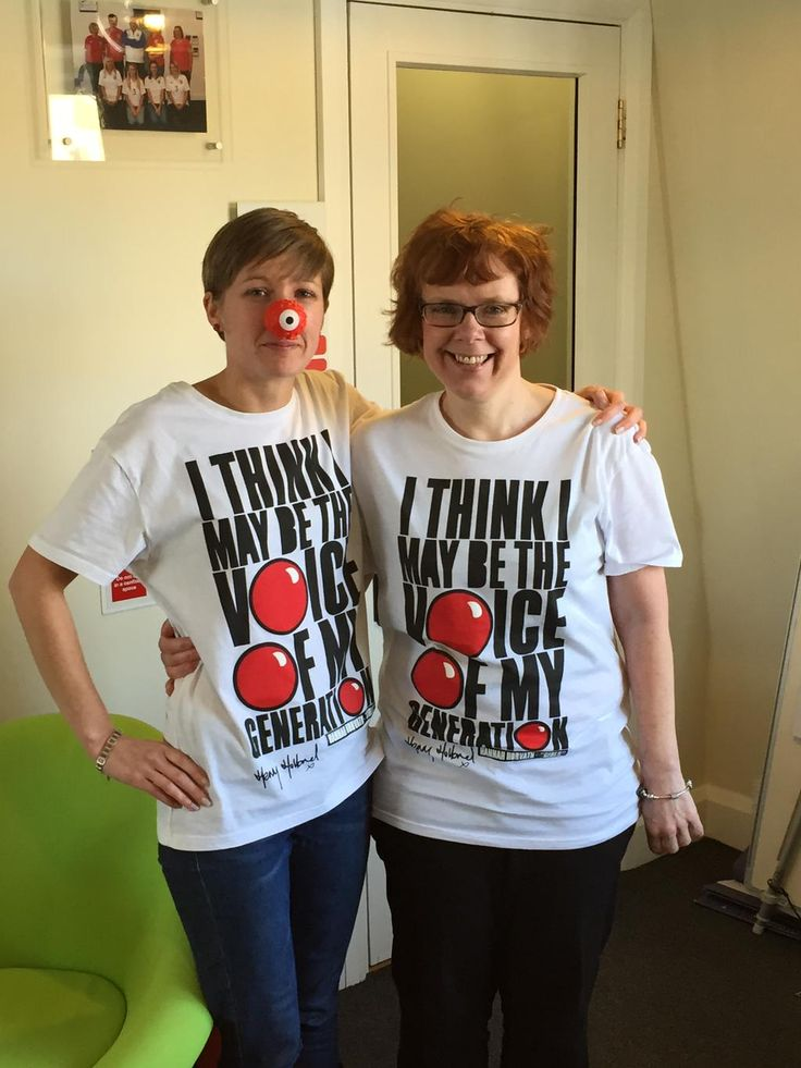 @SharrocksIns team members ready for @rednoseday tomorrow the fundraising continues! Nice pose @goonerforever88 !!!