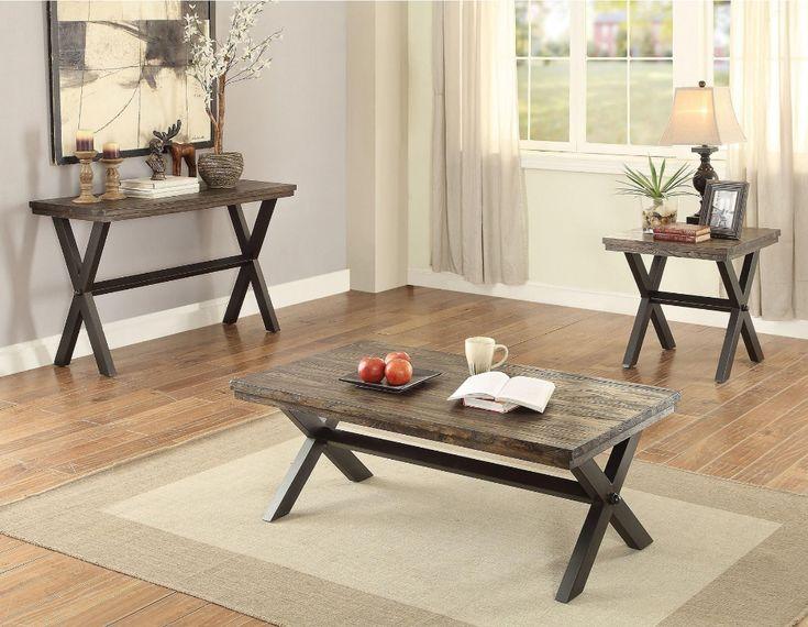 Coaster CS278 X-shaped Legs Coffee Table   – Costas lindas