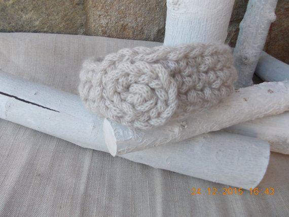 HeadBand, Knitted HeadBand, Wool HeadBand, Beige HeadBand, Braided HeadBand, Chunky Knit, Spring accessory, Hair Accessory, Ear Warmer