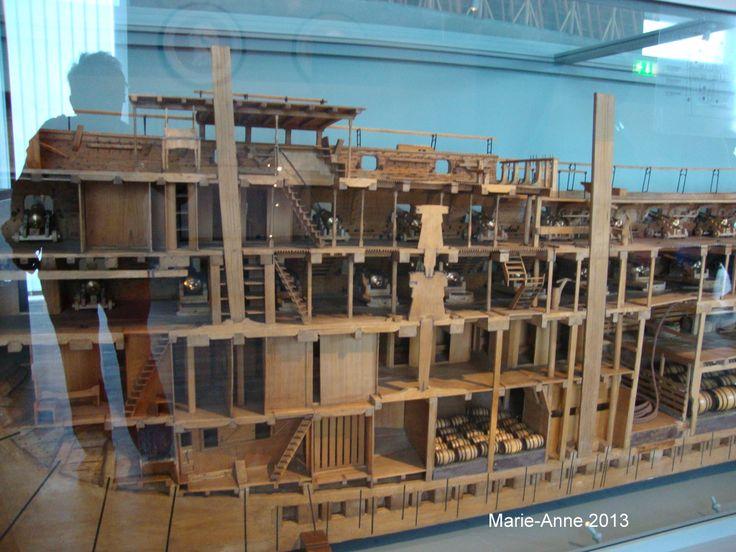 Karlskrona Marinmuseum Modell i genomskärning