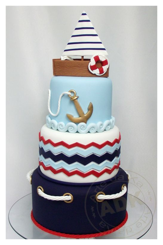 in love with this nautical cake!  |  by Arte da Ka