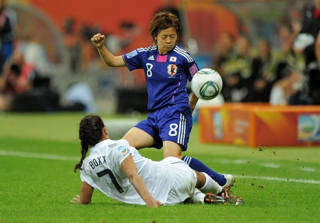 New Japanese captain Aya Miyama sits at the heart of Japan's patient, possession-oriented offense.
