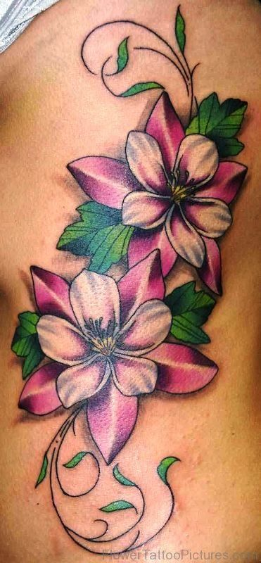 Image result for watercolor columbine tattoo