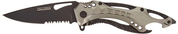 TAC Force TF 705GY Assisted Opening Tactical Folding Knife Black Half... #TACForce