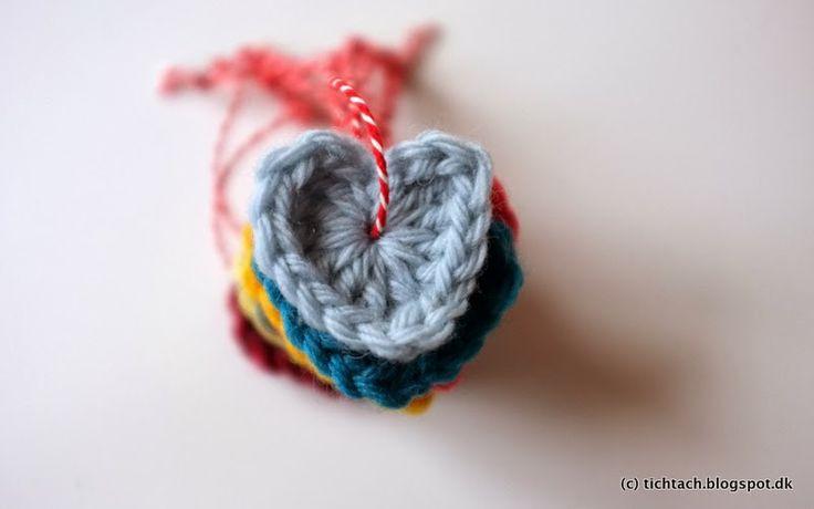 DIY: Crochet hearts <3 #tichtach