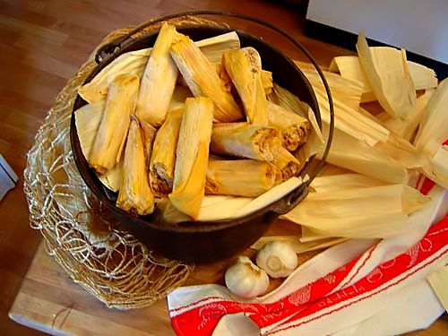 Tamales. My gramma used to make a couple of hundred tamales to eat and share with friends.