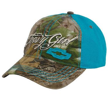 Chevy Hat - Camo Chevy Girl Hat @ MuscleCarApparel.com