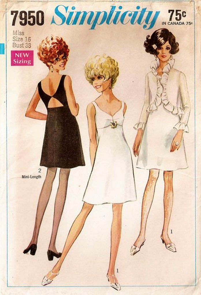 Simplicity 7950 Empire Waist Cutout Back Dress & Bolero Jacket Vintage Sewing Pattern Size 14 Bust 36 inches UNCUT Factory Folded NO ENVELOPE