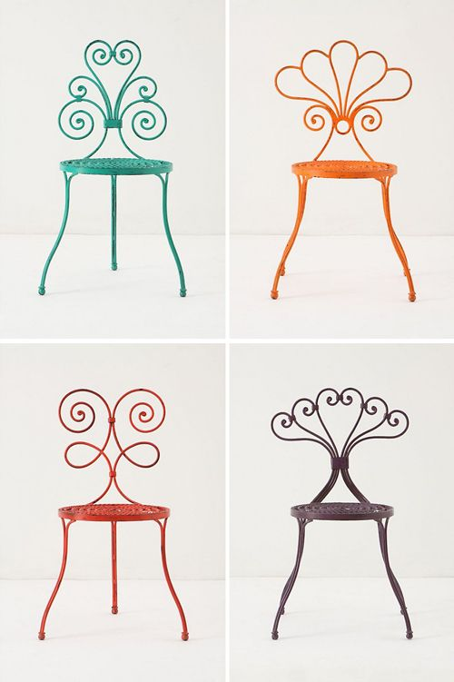 Some whimsical patio chairs! - Super fun!!