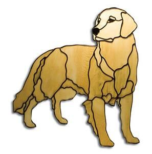 Stained glass dogs | Obsession Pre-cut Golden Retriever Dog Kit