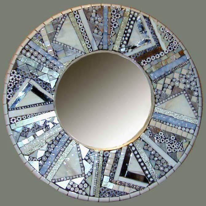 Barbara Wright at Arcata Artisans mosiac glass mirror