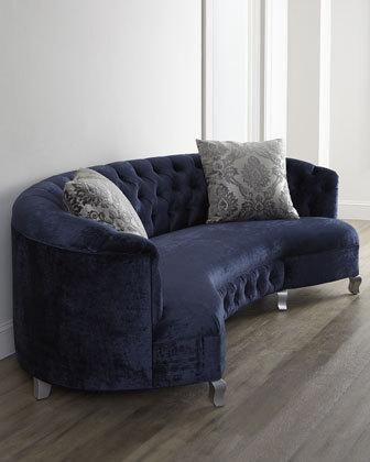 "#HomeDecor #Furniture: ""Majestic Jayne"" Dark Blue Sofa"