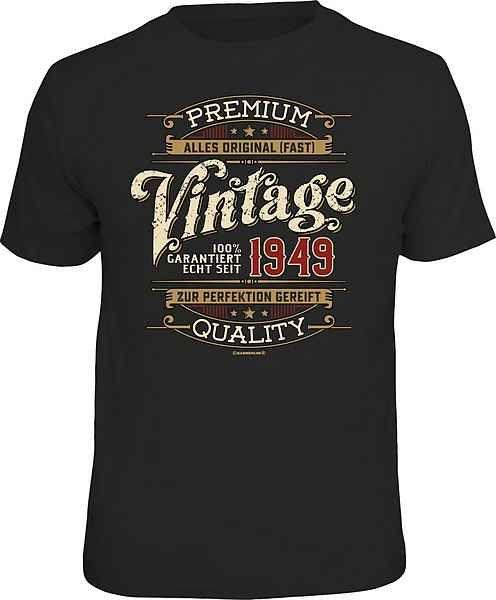 rahmenlos tshirt zum 70 geburtstag mit aufdruck »vintage