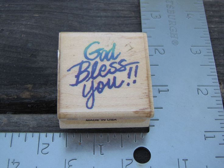 """Rubber Stamp Stampendous """"God Bless You"""" 1995  C067 #Stampendous #Border"""