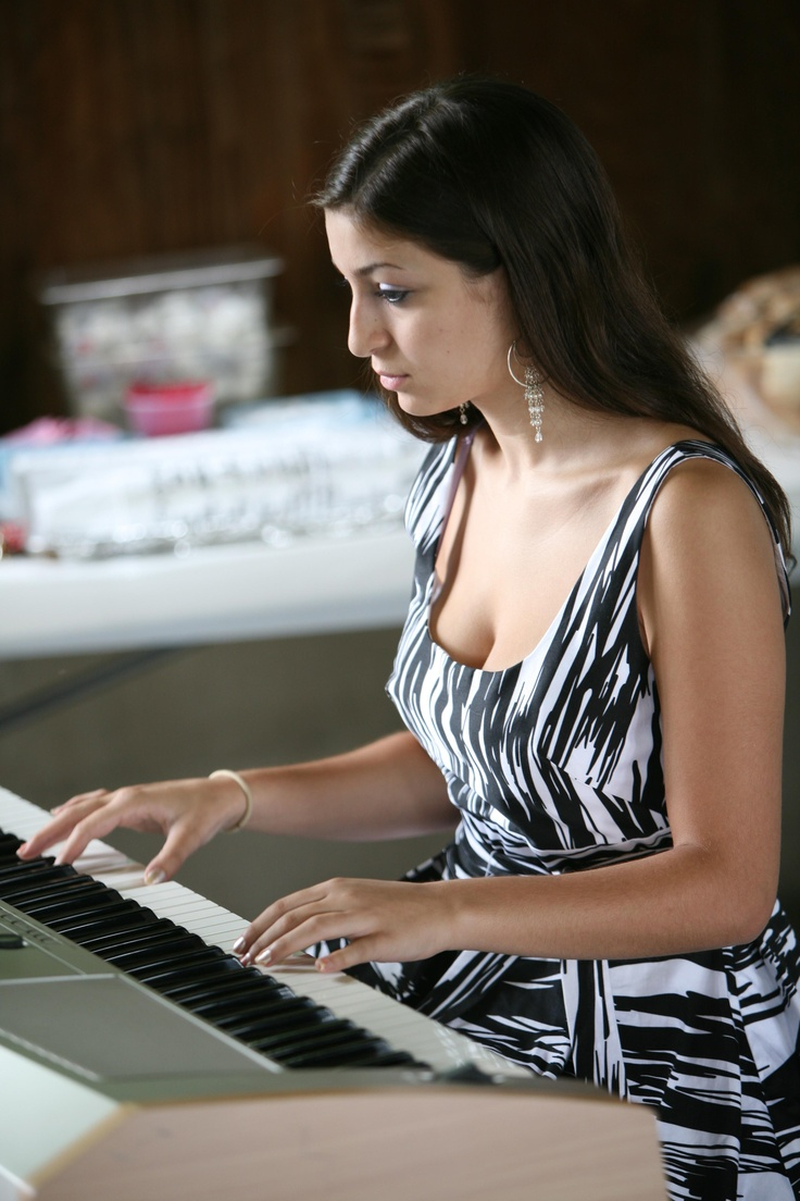 Juliet at the keyboard