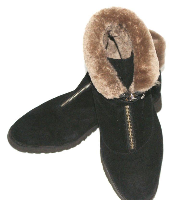 Australischen Style LAMMFELLSTIEFEL Lammwolle BOOTS geffüttert LEDER Gr.39,5 NEU   eBay