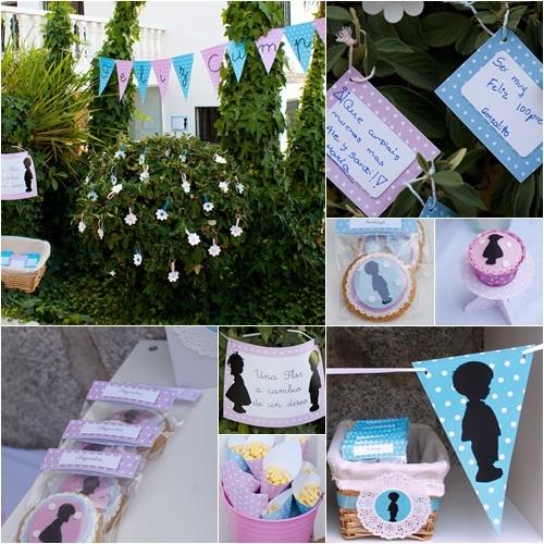 Genial fiesta de cumplea os en azul y rosa para ni o y for Decoracion para nina