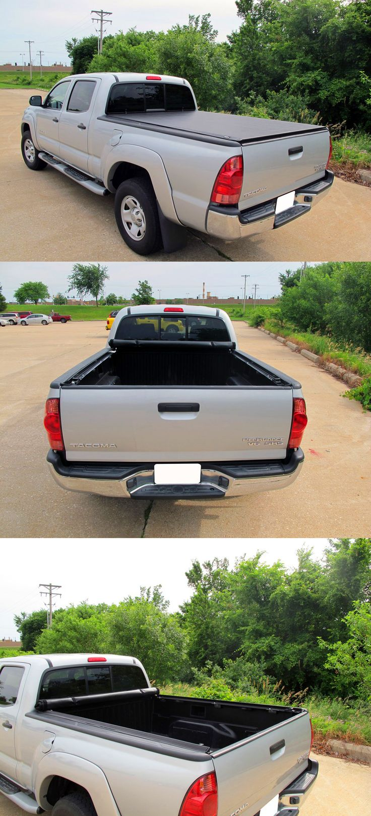 Awesome set of accessories for the Toyota Tacoma! The TruXedo Lo Pro QT Soft Roll-up Tonnaeu Cover can help you increase gas mileage, stores quickly and features automatic tension control. Easy install!