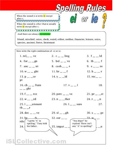 Printables Spelling Rules Worksheets 1000 images about teaching spelling on pinterest choice boards rules ie and ei worksheet free esl printable worksheets made by teachers